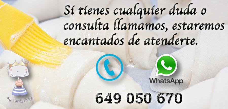 Contacto Repostería a domicilio My Candy Prince. Teléfono y whatsApp 649 050 670