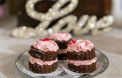 Tartitas de chocolate y fresa. Repostería a domicilio My Candy Prince